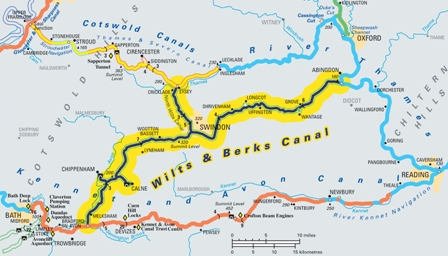 Wilts Berks Canal Map